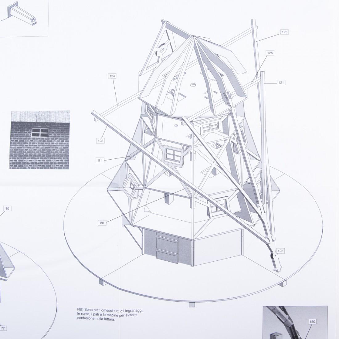 Piano costruzione Mulino a vento Olandese