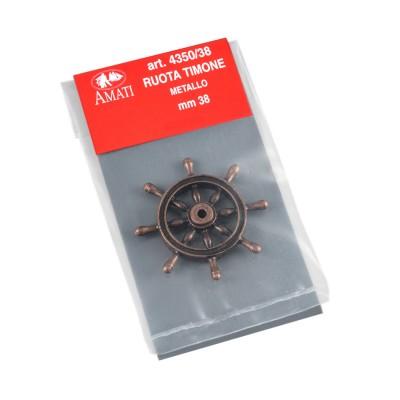 Ruote timone metallo mm.38