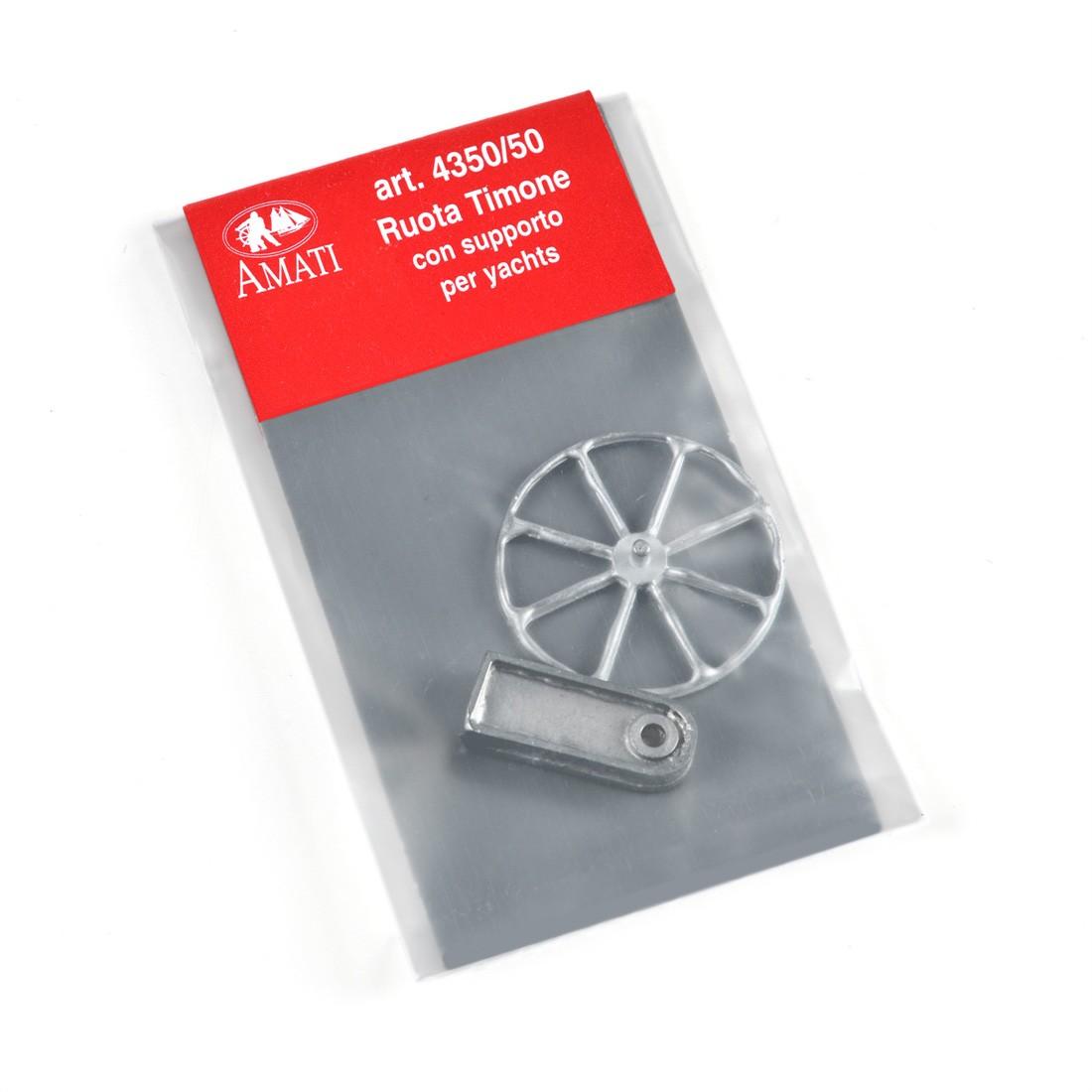 Ruote timone mm.50 con supporto