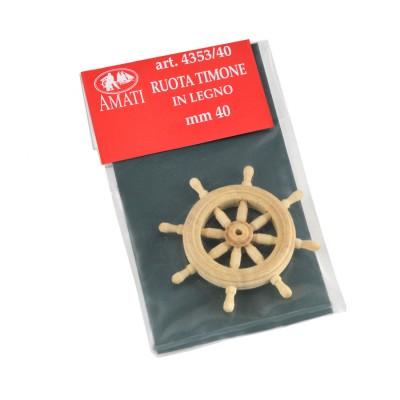 Wooden rudder wheel mm.40
