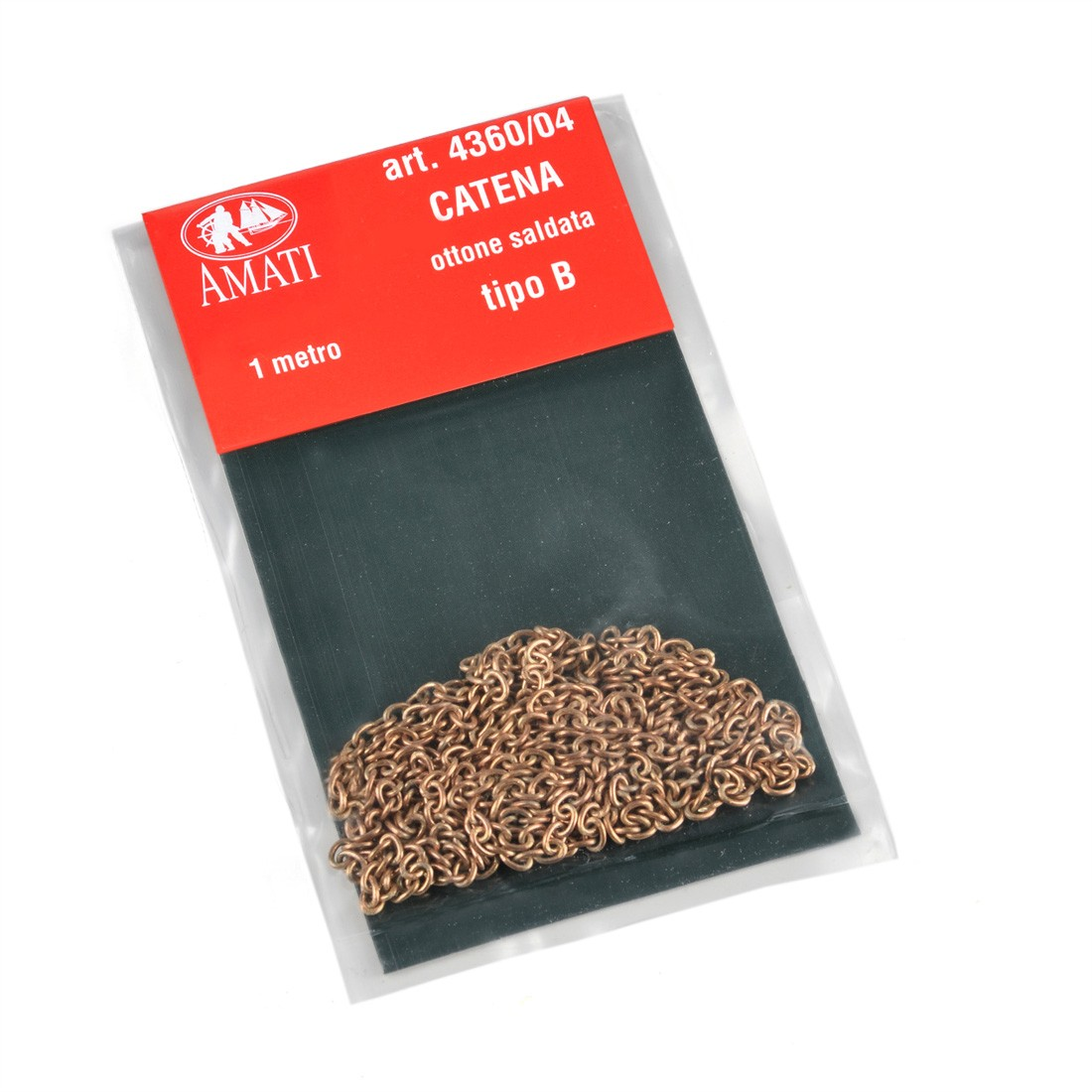 Catena tipo B in ottone mm.1 x 1 mt.