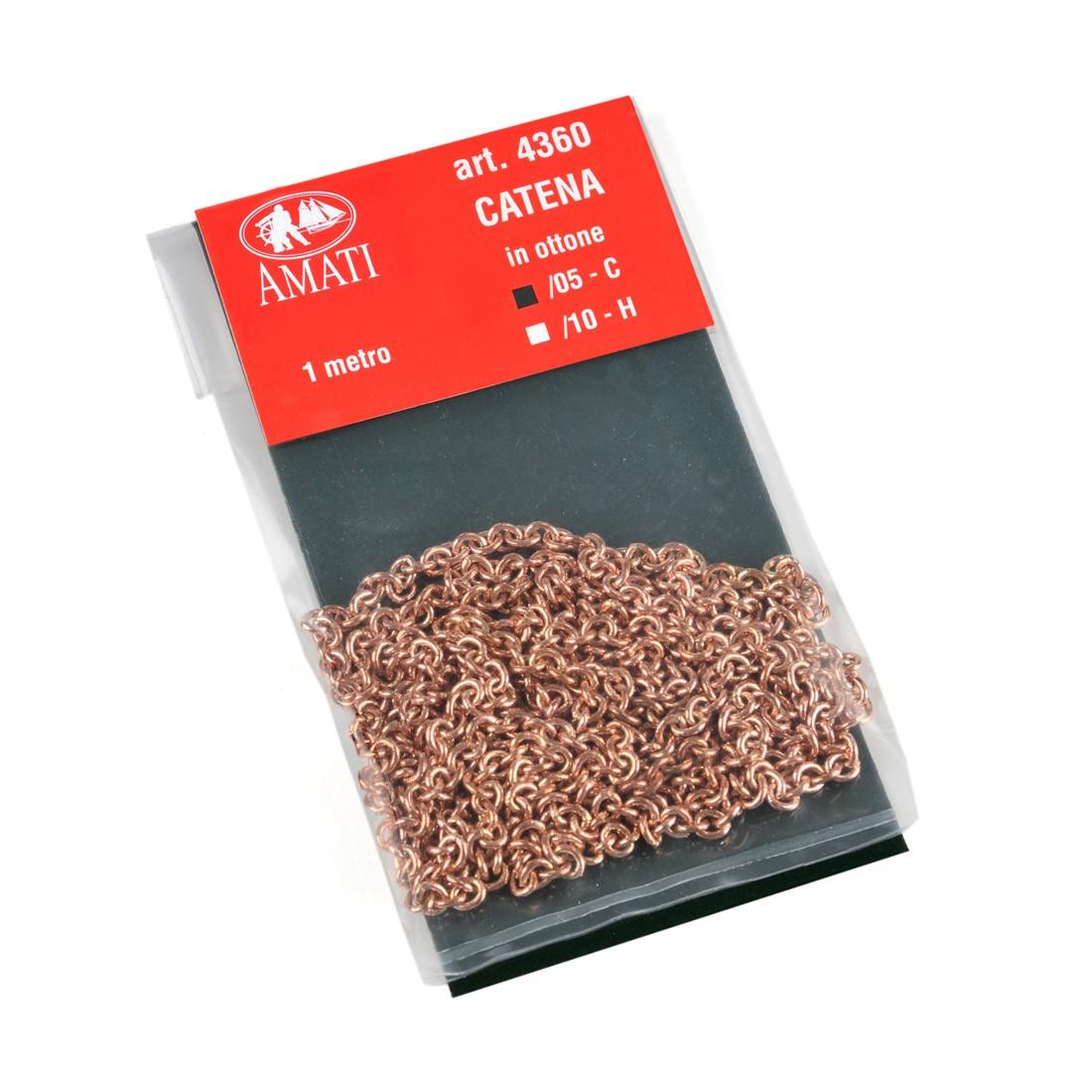 Cadena de latón tipo C mm.1,0 x 1 mt.