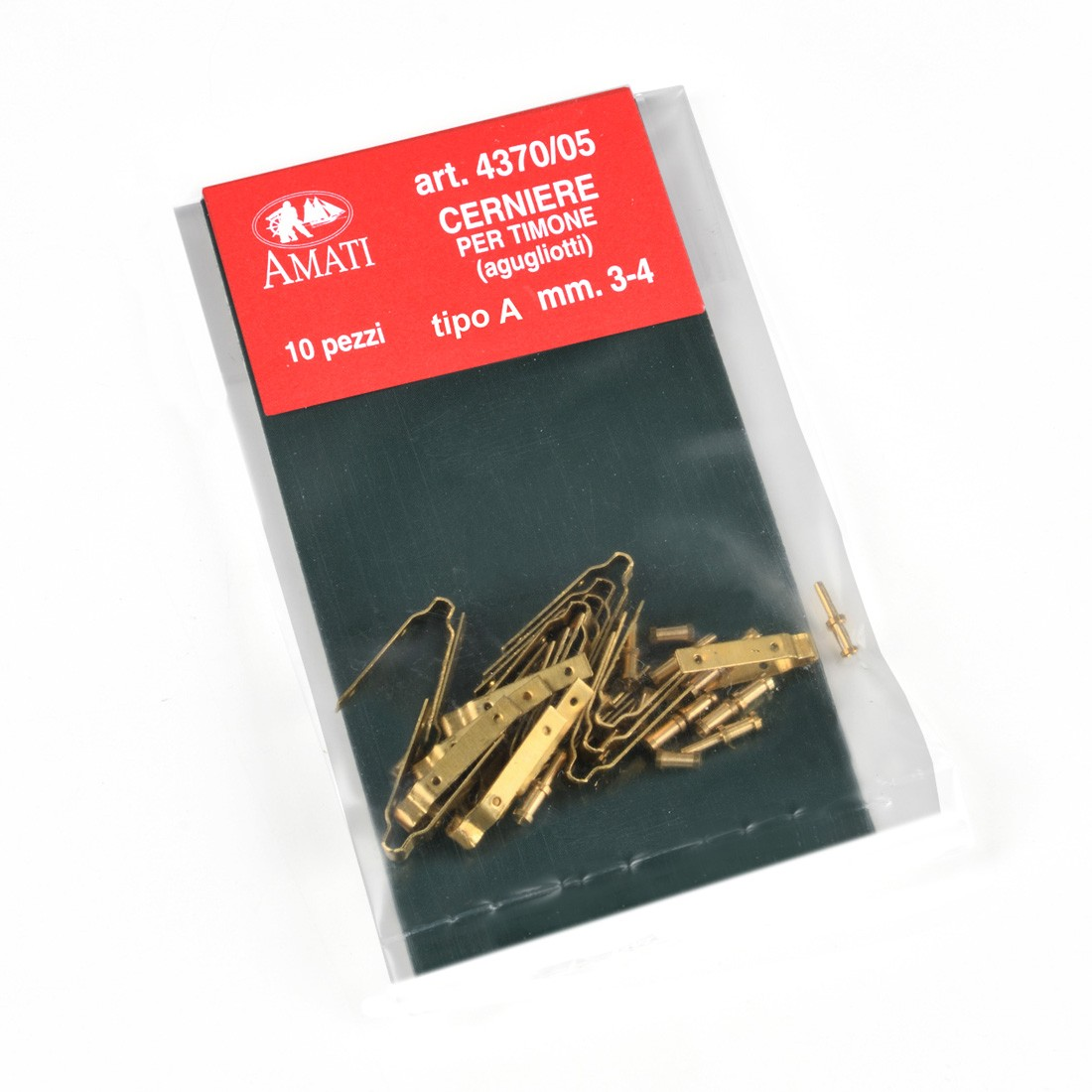 Brass hinges mm.3-4 - new type