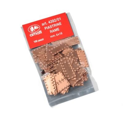 Plaques cuivres 8x18 mm.