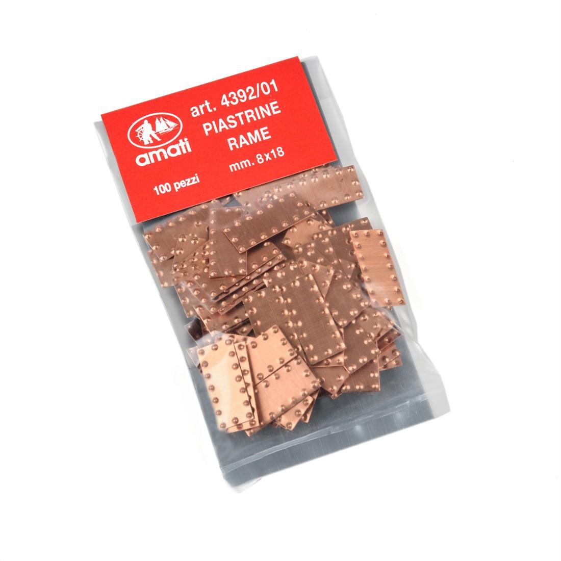 Placas de cobre mm.8x18