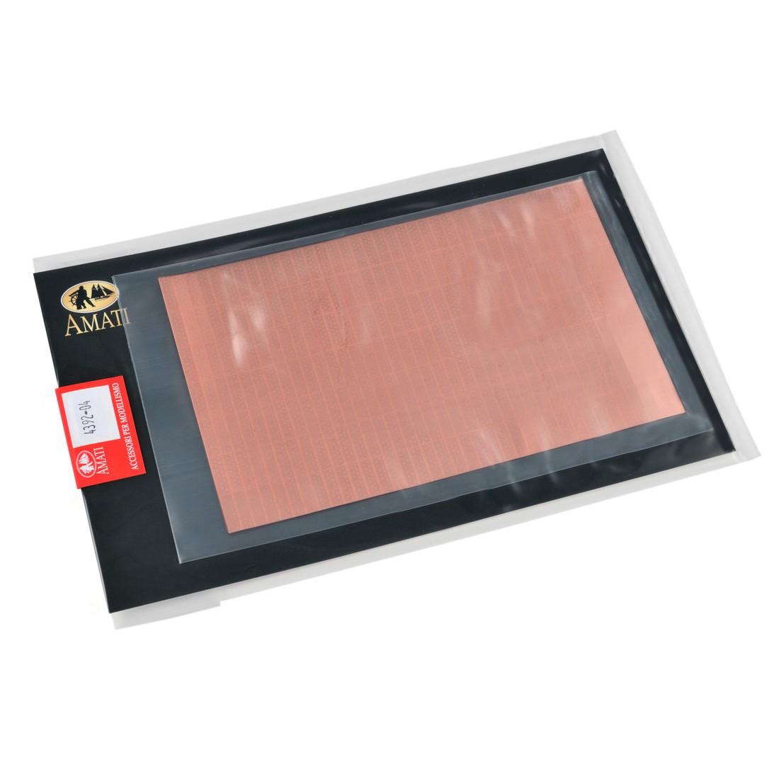 Plaques cuivre mm.5x17  set photodécoupé