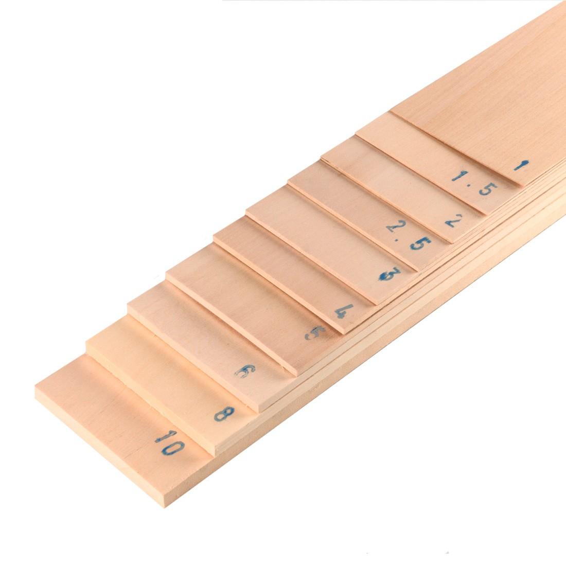 Tableta de madera de leña mm.4x100x1000