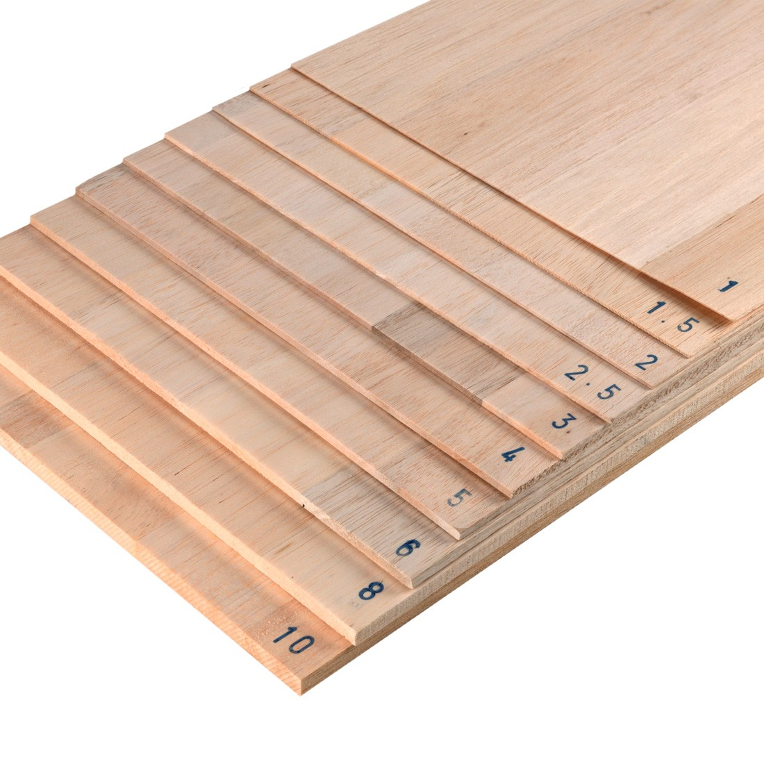Balsa plywood 50x30 mm. 1