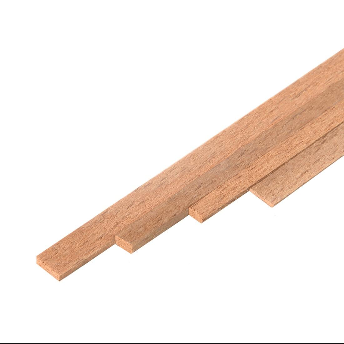 Tira de madera de haya mm.2x4