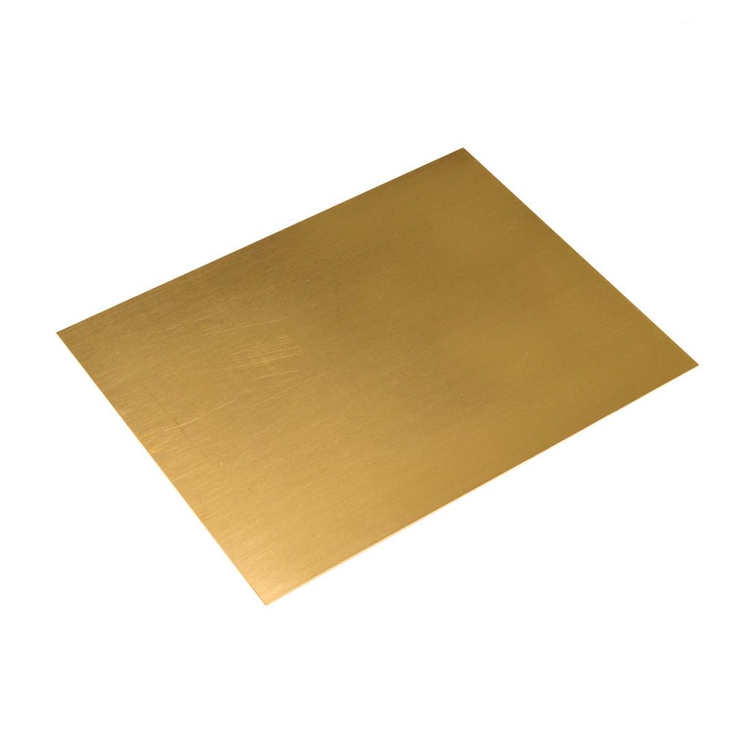 Lastra Ottone Crudo mm.220x170 spess. 0,5