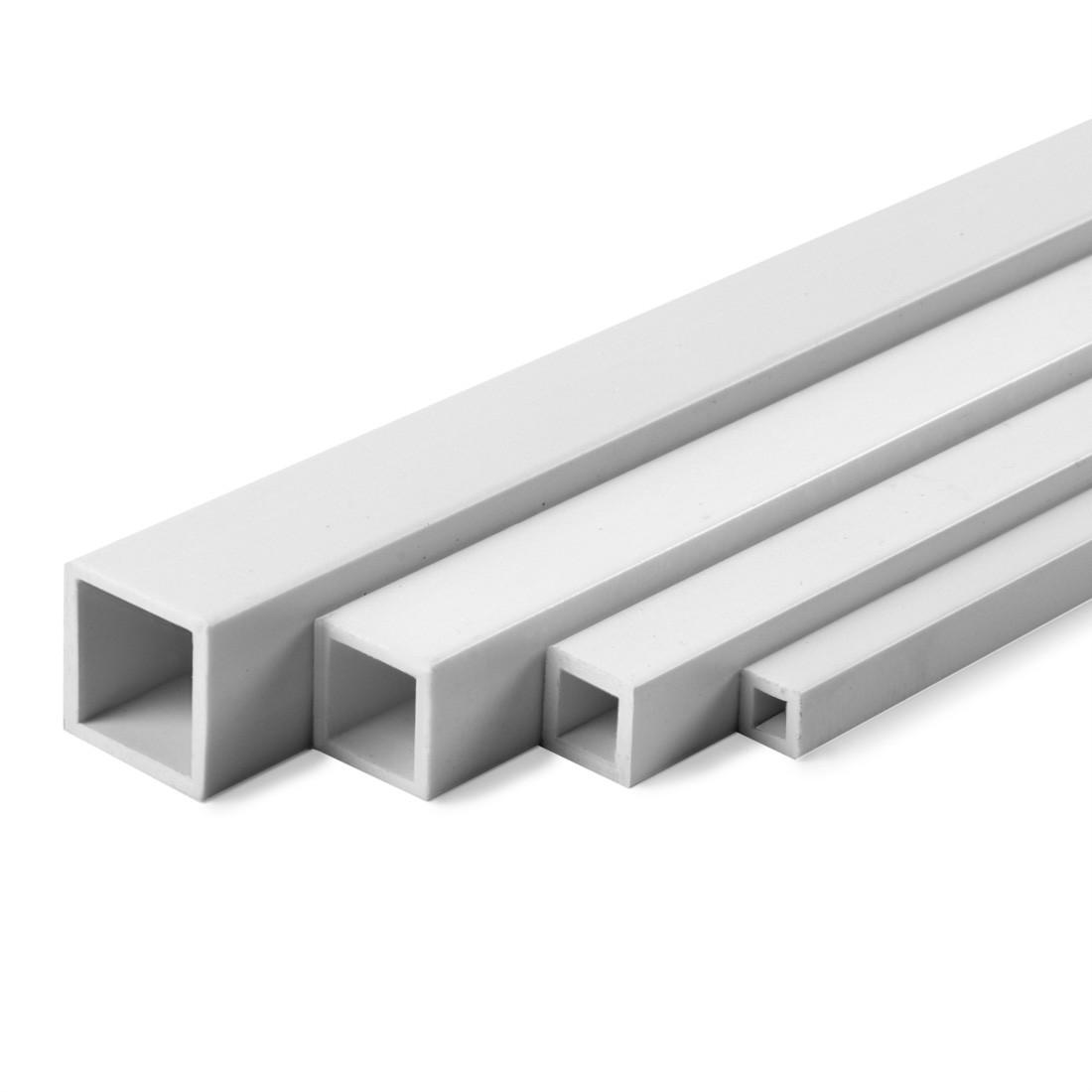 Perfil de tubo cuadrado ASA mm.6x8x1000