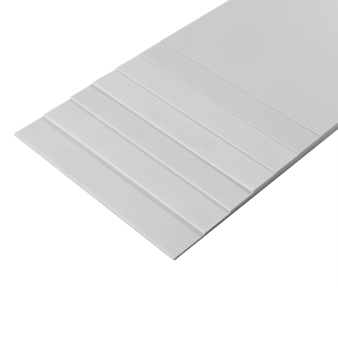 Feuille Styrène blanc mm. 194x320- mm. 0,75