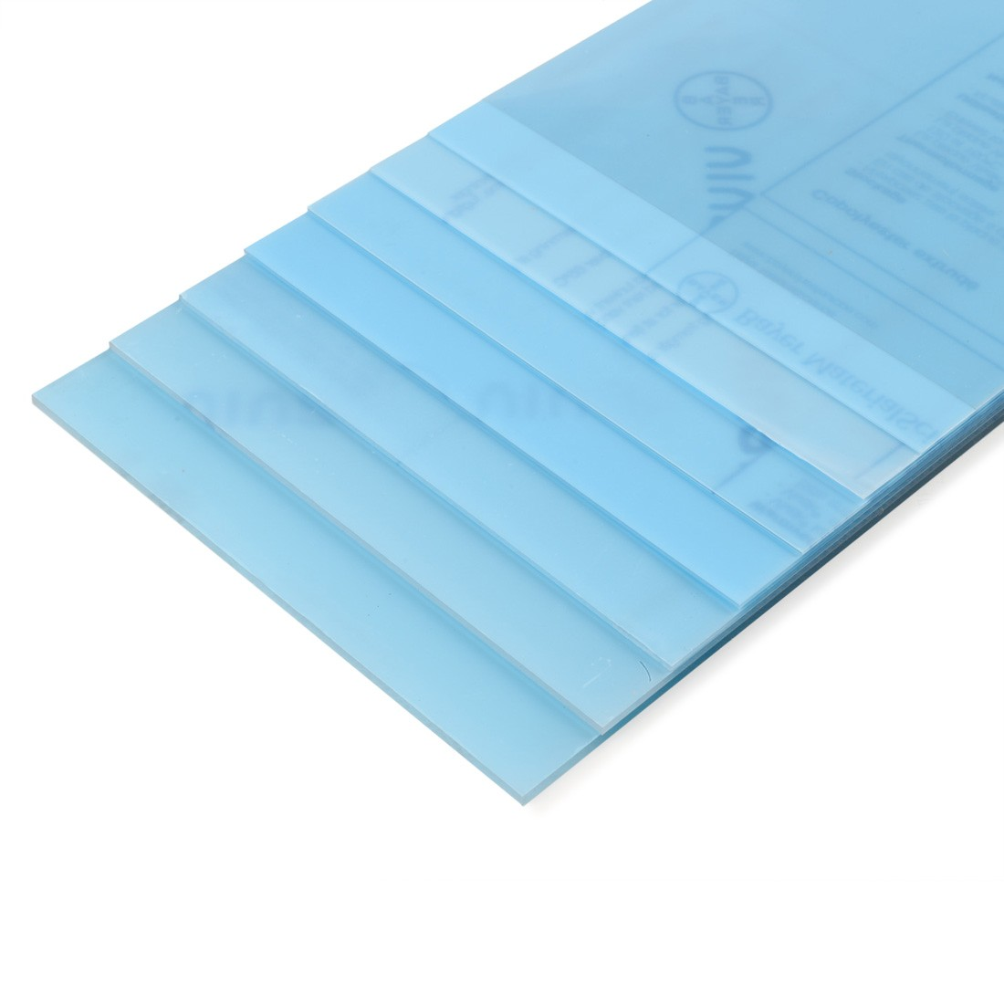 Polyester sheets mm.194x320 - mm.0,2
