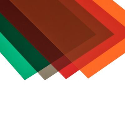 Foglio PVC trasp.giallo mm.194x320  mm.0,1
