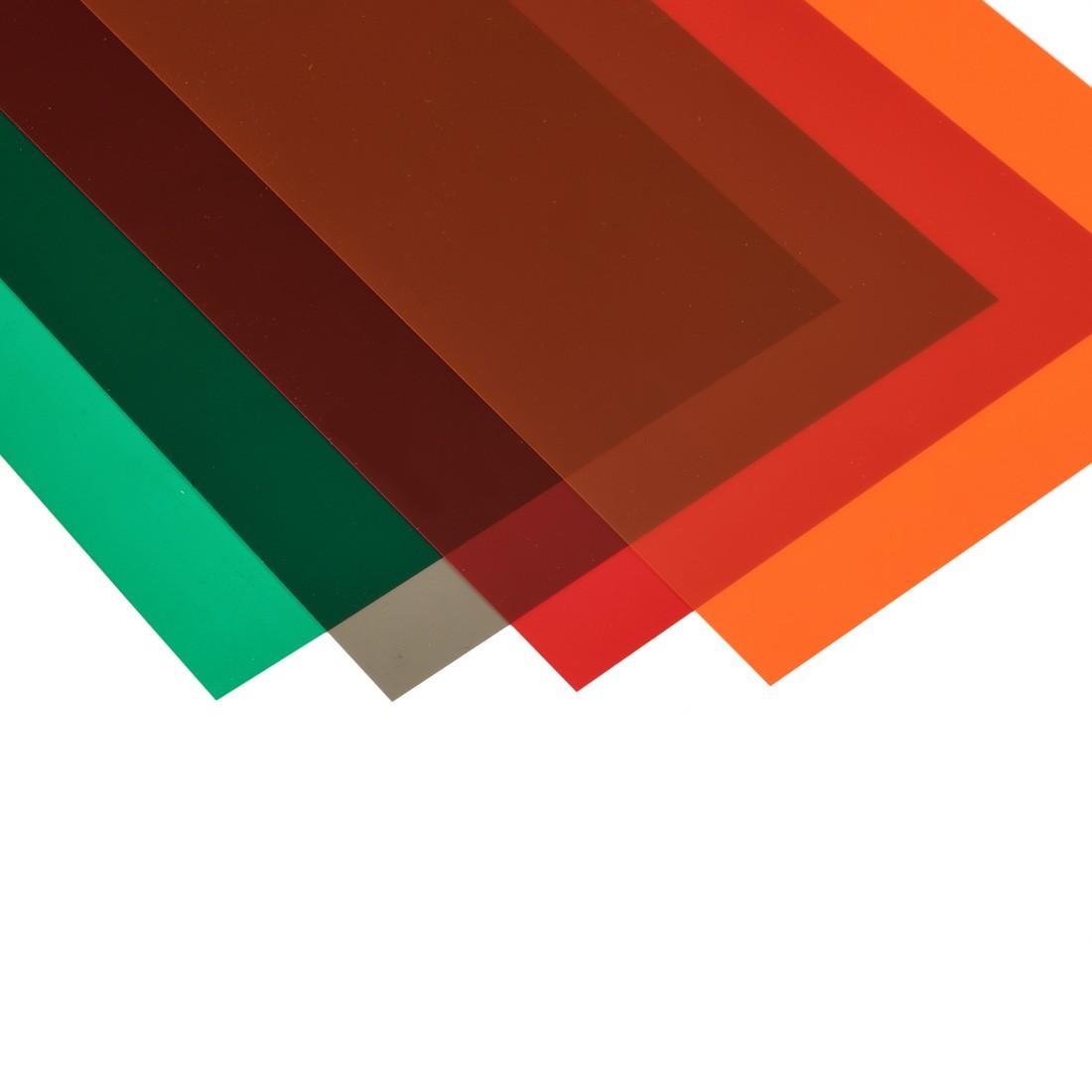 Lámina de PVC verde mm.194x320 mm.0,1