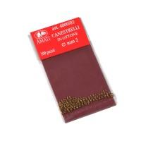 Canestrelli ottone mm.2 (100 pz)