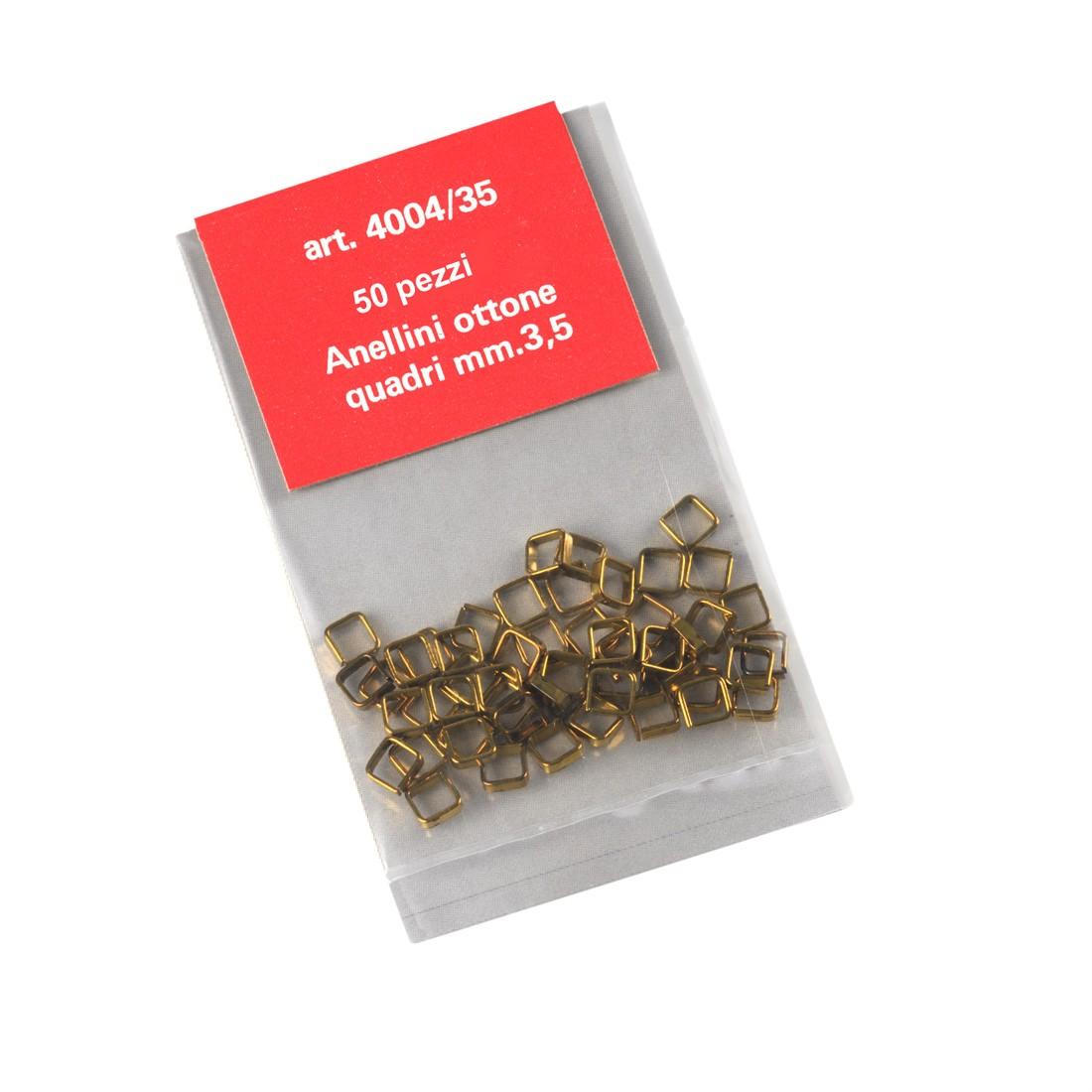 Anillos cuadrados de latón mm.3,5