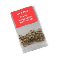Anellini quadri ottone mm.3,5
