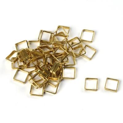 Anellini quadri ottone mm.6.