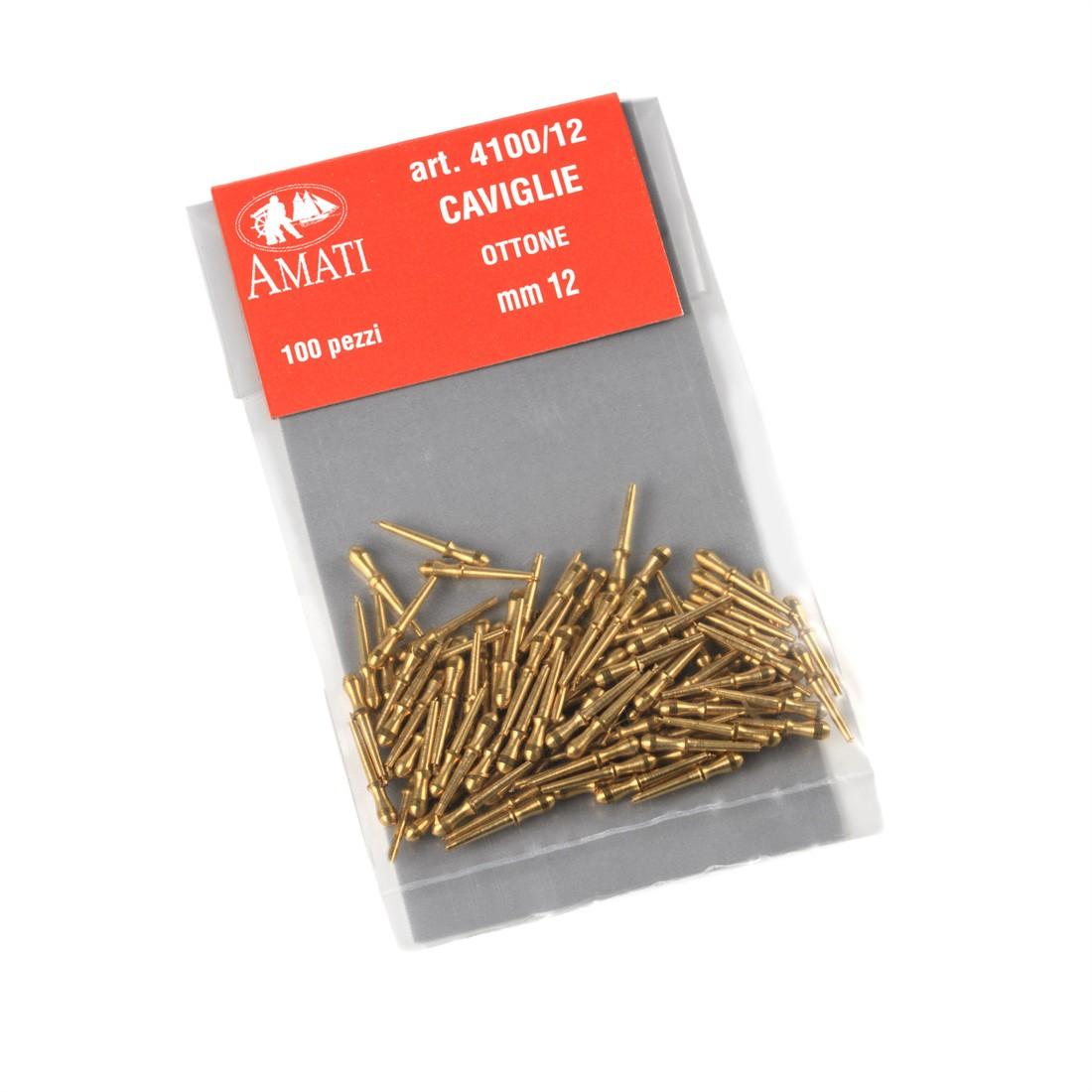 Clavijas de sujeción de latón mm.12