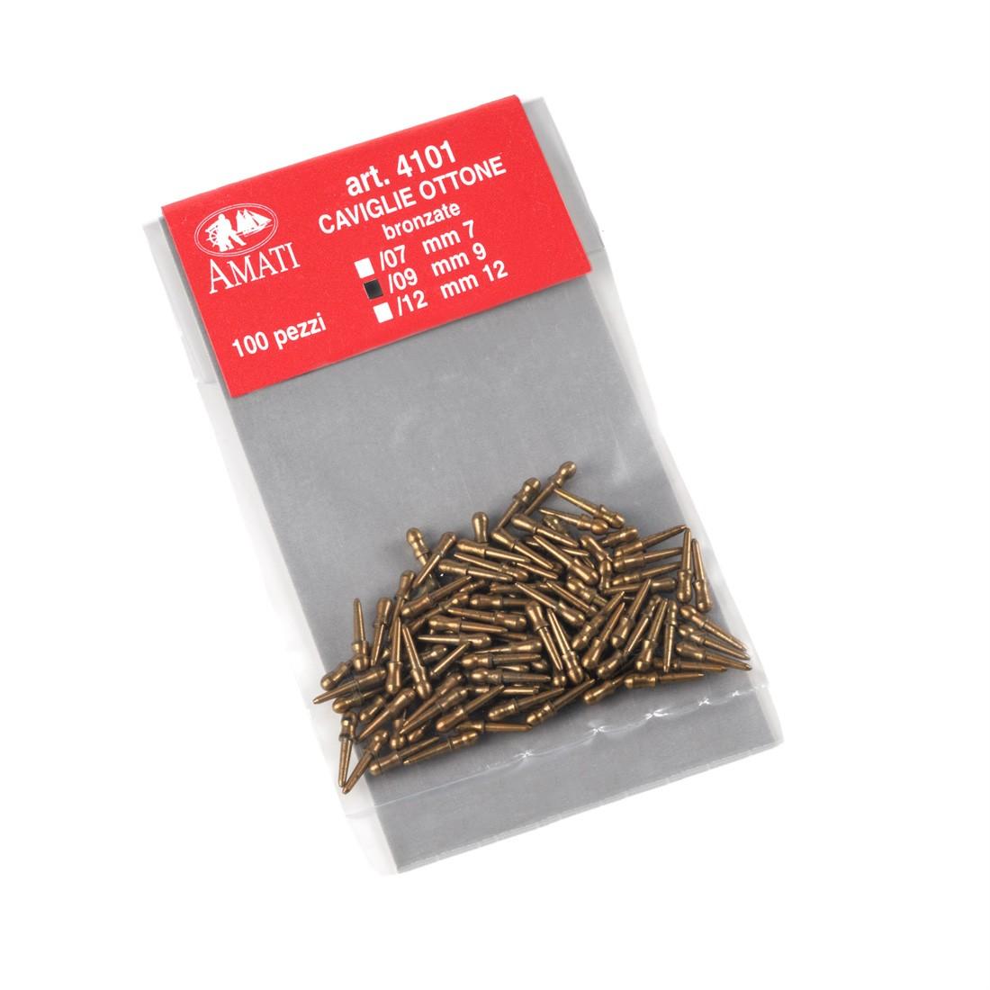 Bronzed brass belaying pins mm.9