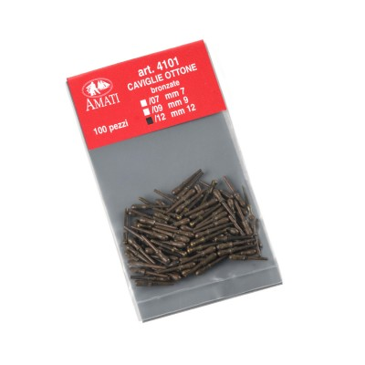 Cabillots laiton foncé mm.12