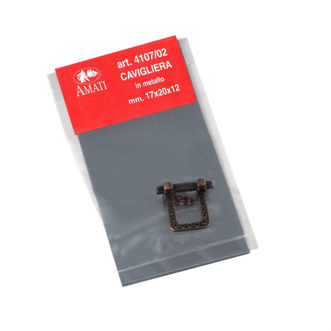 Metal pin rails for masts mm.17x20x12