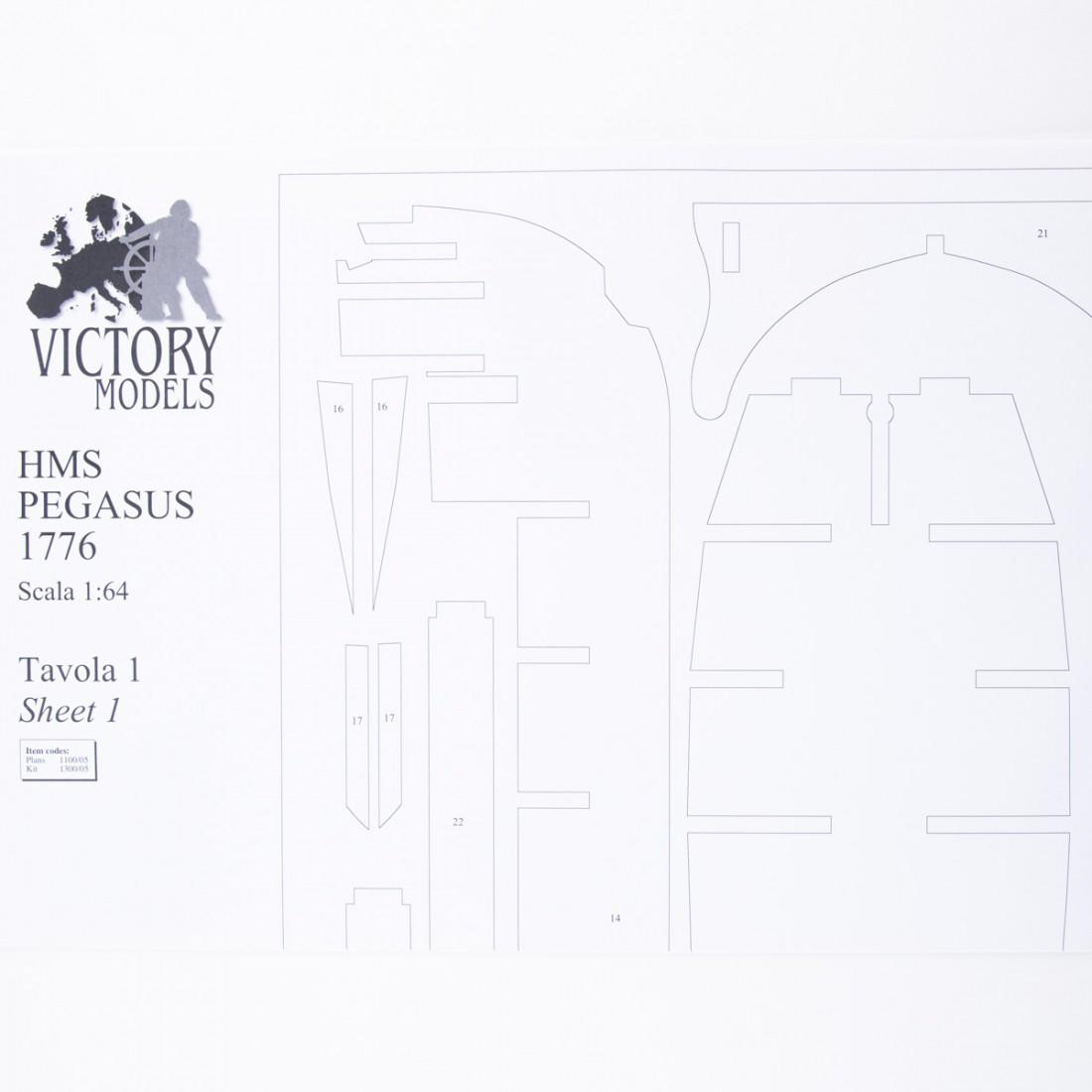 Plan H.M.S. Pegasus
