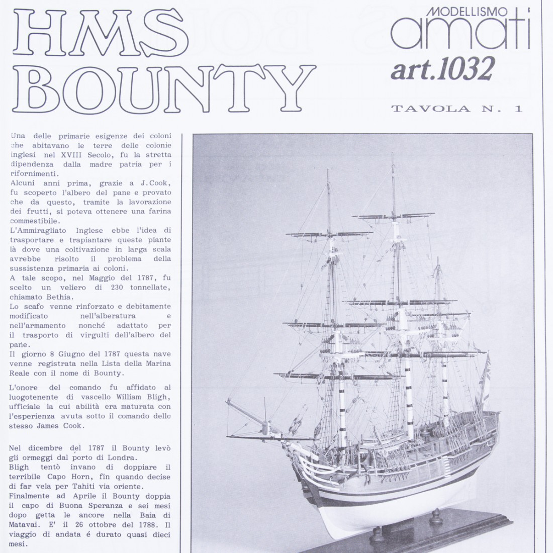 Plan H.M.S. Bounty