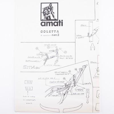 Piano costruzione Goletta Americana 1830