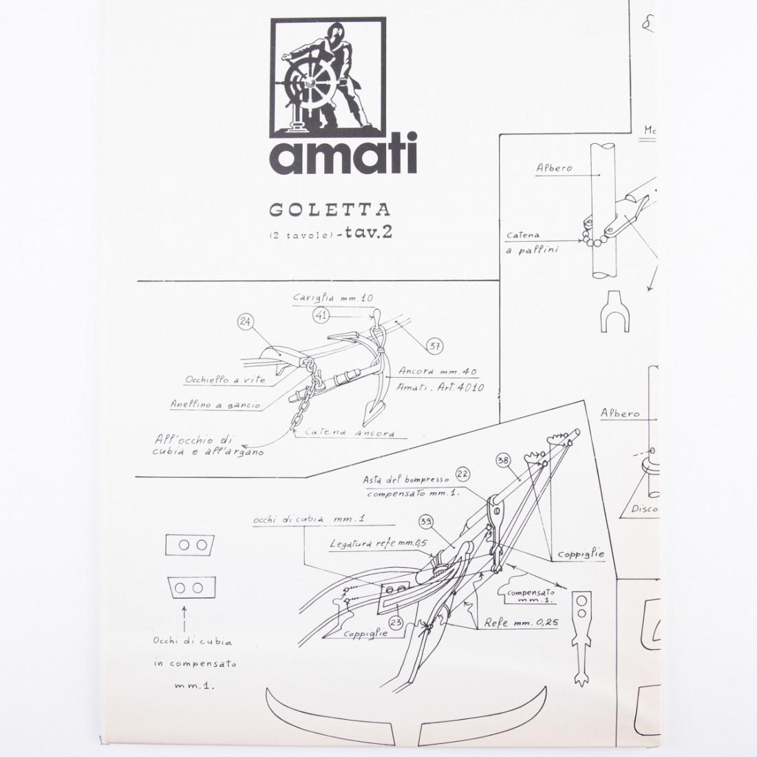 American Schooner 1830 Plan