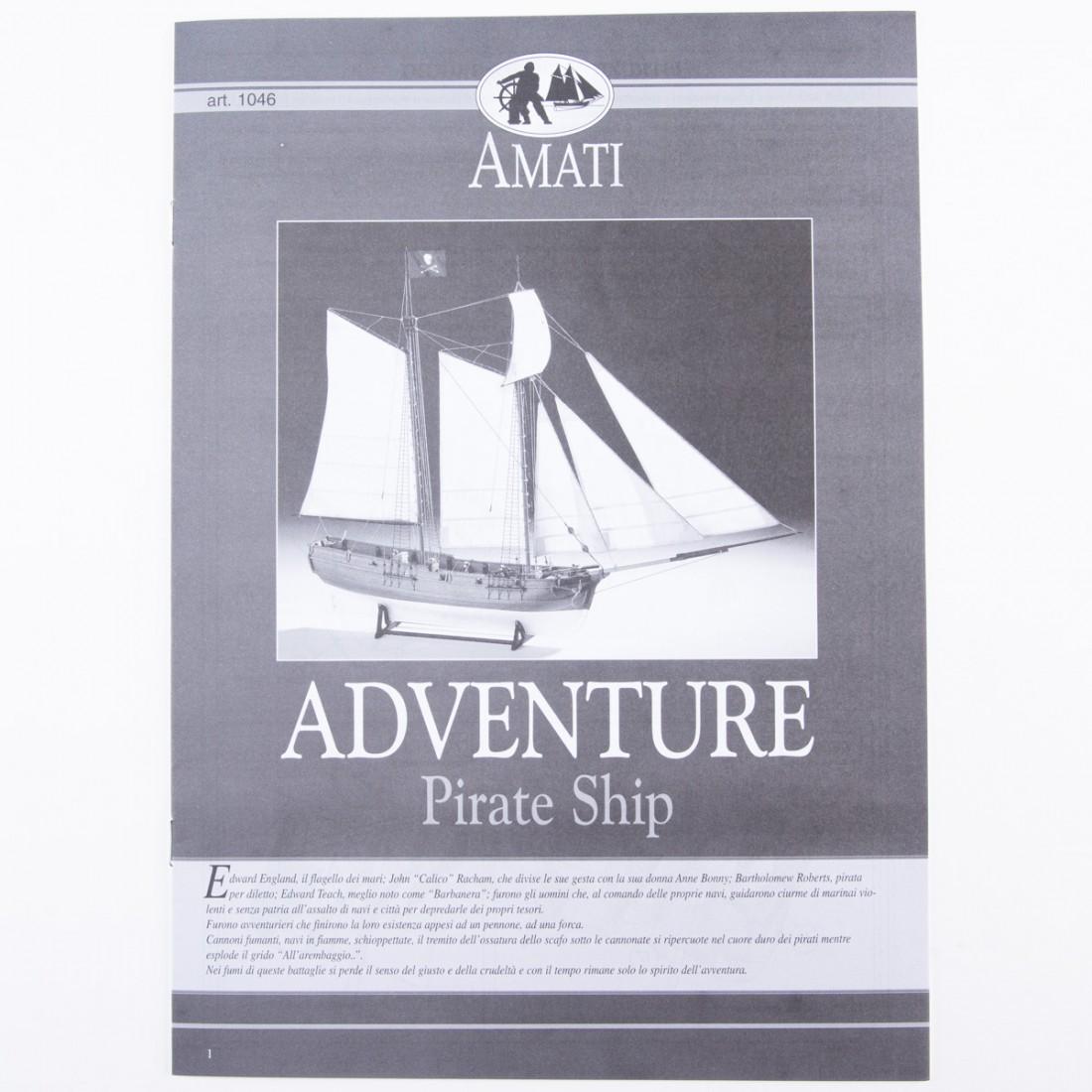 Adventure - Pirate Ship 1760 Plan