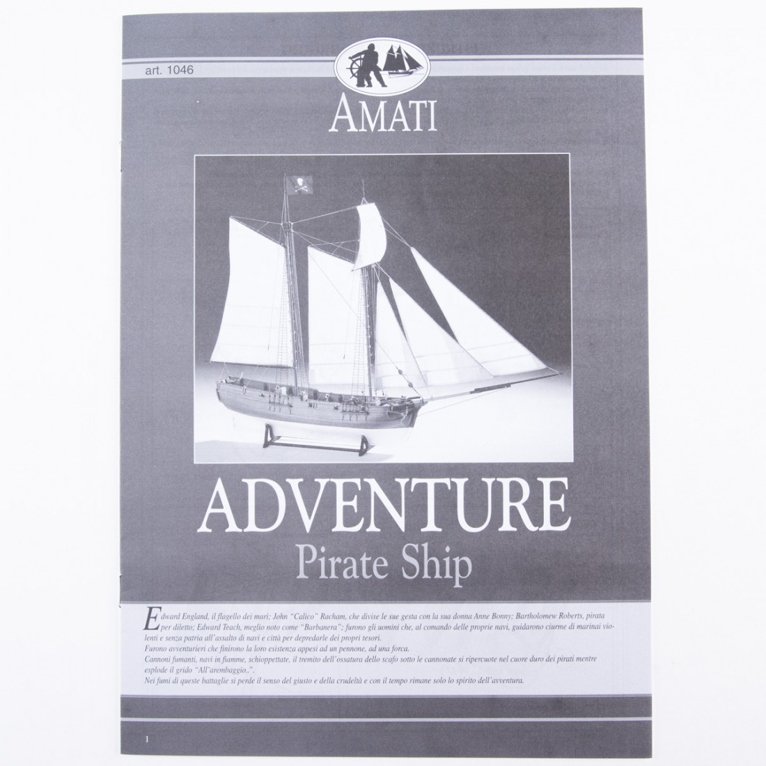 Plan Adventure - Navire Pirate 1760