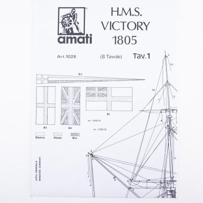 Piano costruzione H.M.S. Victory