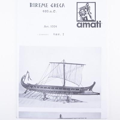 Piano costruzione Bireme Greca