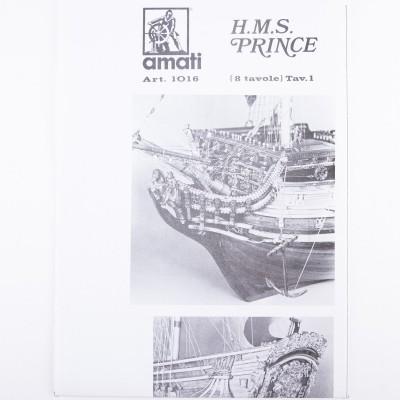 Piano costruzione H.M.S. Prince