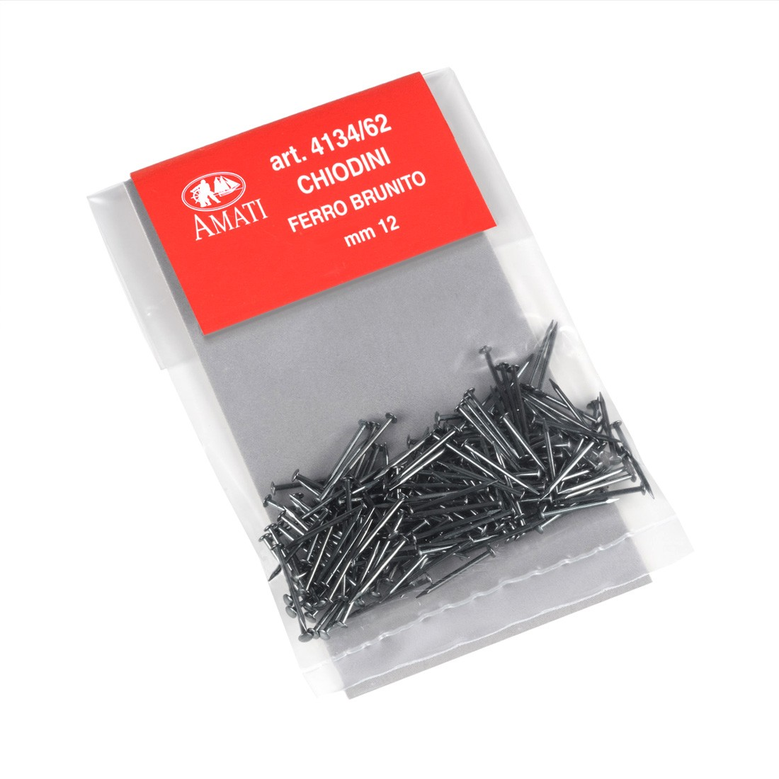 Chiodini ferro brunito mm.0,8x12