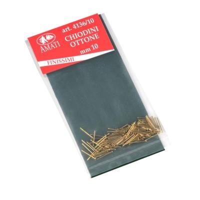 Ultrafine brass nails mm.10