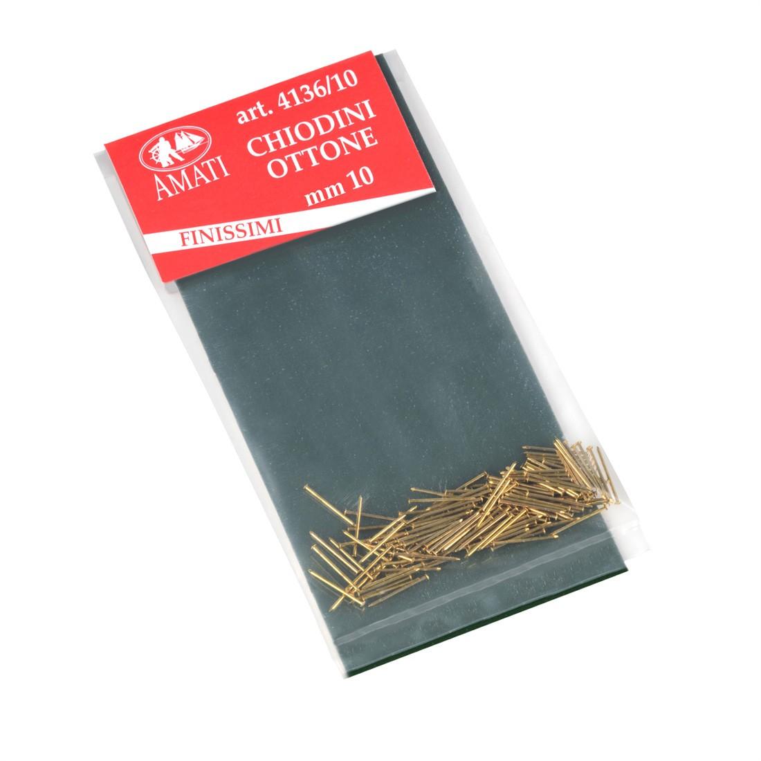Clous ultra fins laiton mm.10