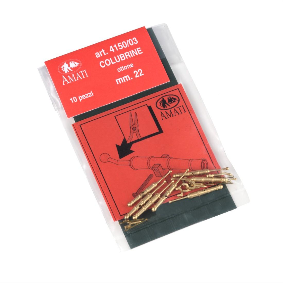 Colubrine ottone tipo A mm. 22