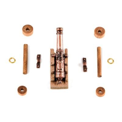 Cannoni affusto legno mm. 30