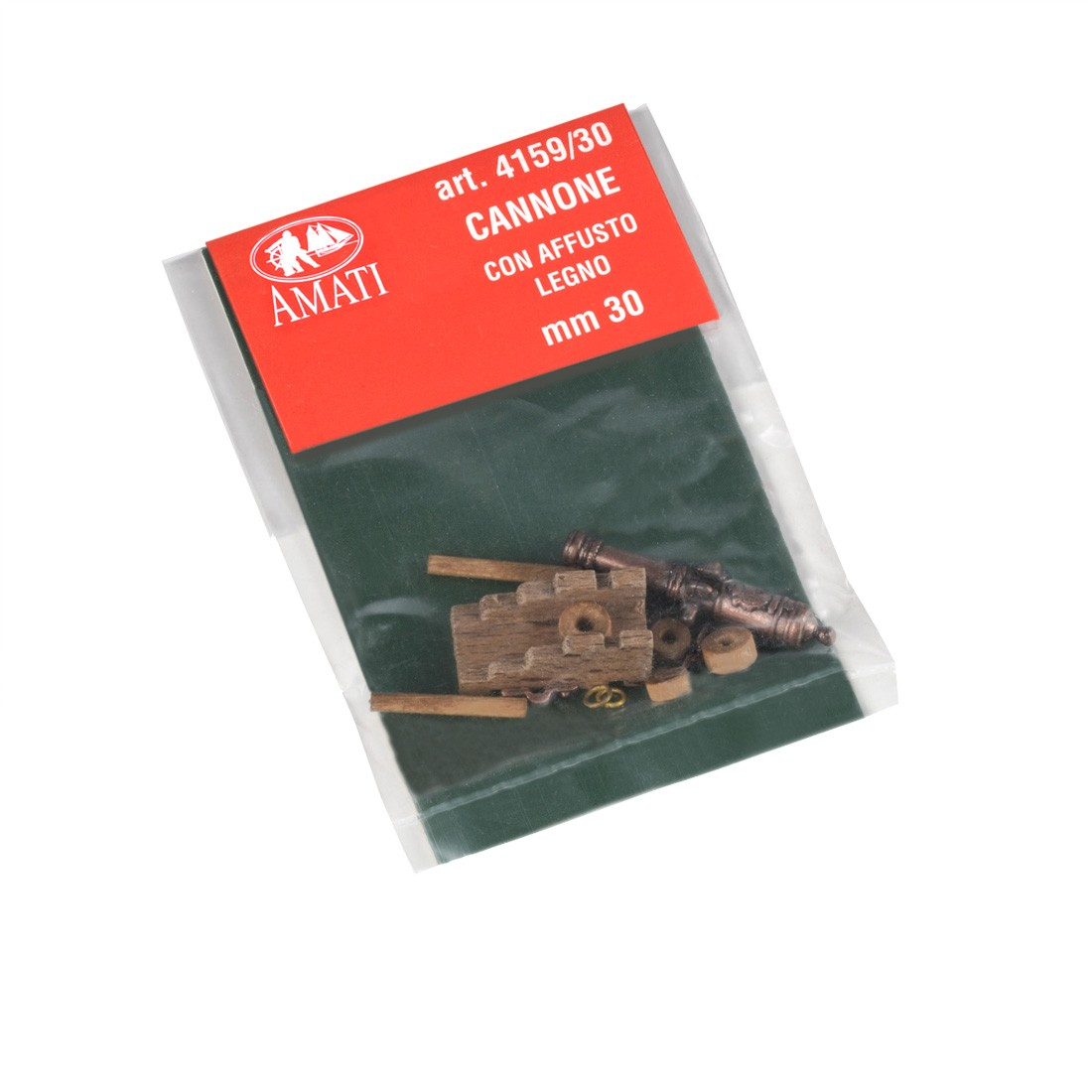 Canons avec chariot bois mm.30