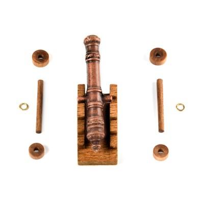 Cannoni affusto legno mm. 50