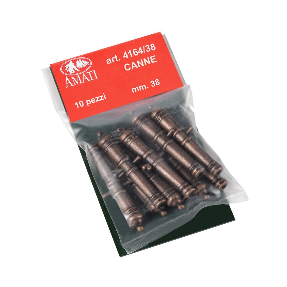 Metal cannon barrels mm.38