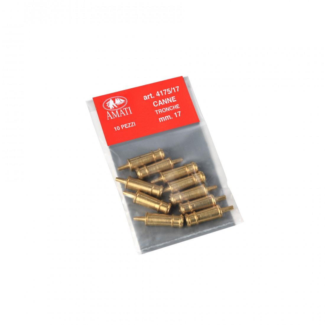 Brass dummy barrels mm.17