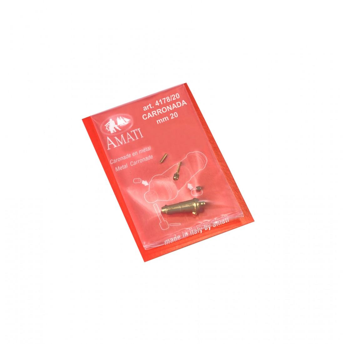 Metal carronades mm.20