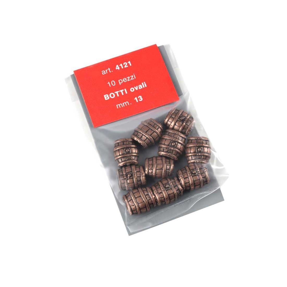 Barriles ovalados de metal mm.13