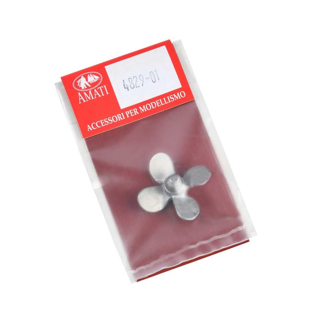 Hélices quadripales métal droite mm.30
