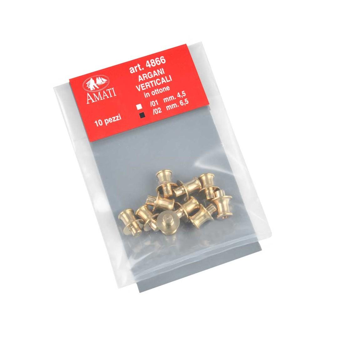 Brass capstans mm.6,5