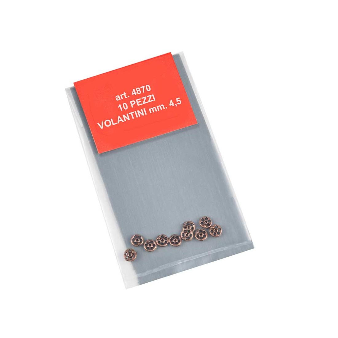 Volants métal 4,5 mm.